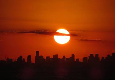 Art Print featuring the photograph Miami Sunset by Jennifer Wheatley Wolf
