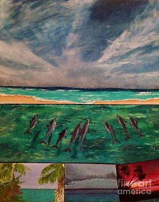 Print featuring the painting Delfin by Vanessa Palomino