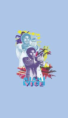 Noir Digital Art - Miami Vice - Freeze by Brand A