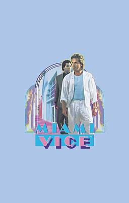 Miami Vice Digital Art - Miami Vice - Miami Heat by Brand A
