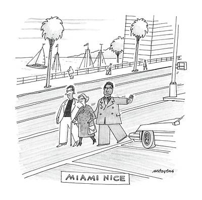 Miami Drawing - Miami Vice by Mick Stevens