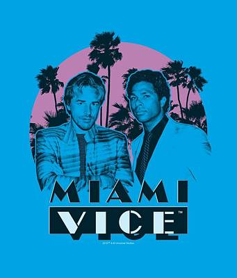 Noir Digital Art - Miami Vice - Stupid by Brand A