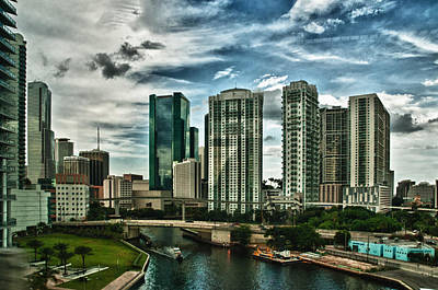 Miami Skyline Photograph - Miamiriver by Robert Swinson