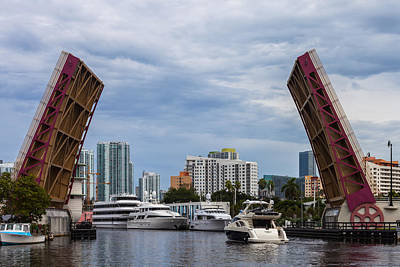 Photograph - Miami's 5th Street Bridge by Ed Gleichman