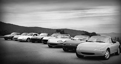 Photograph - Miatas by Kelly Hazel