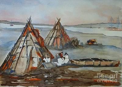 Mic Mac Camp Circa 1850 Original by Lise PICHE