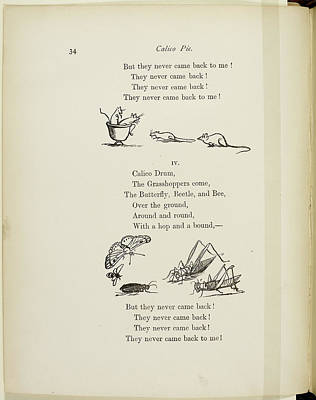 Verse Photograph - Mice In A Teacup by British Library