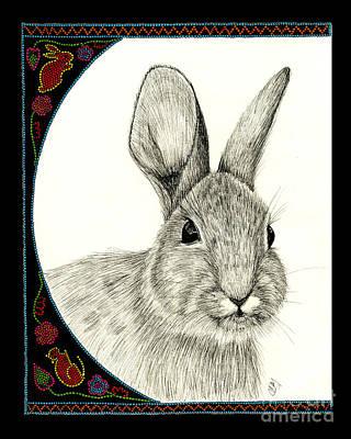 Abenaki Wall Art - Drawing - Michabo-the Great Hare by Christine Matha