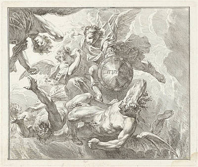 Michael And The Fall Of The Rebel Angels Art Print