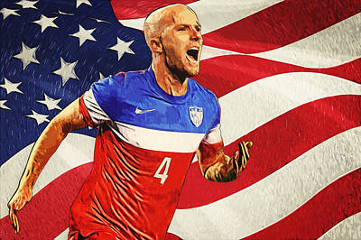 Athletic Digital Art - Michael Bradley by Taylan Apukovska