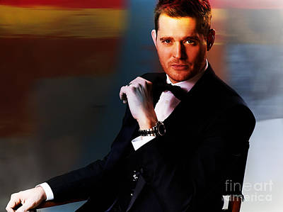 Michael Buble Art Print by Marvin Blaine