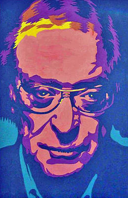 Caine Painting - Michael Caine by Linda Wilson