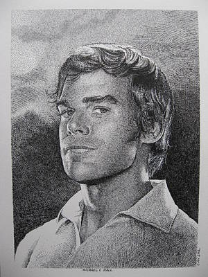 Dexter Drawing - Michael C.hall. Dexter by C V