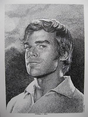 Michael C.hall. Dexter Print by C V