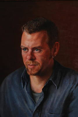 Character Portraits Painting - Michael  by Dan Petrov