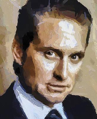 Michael Douglas Digital Art - Michael Douglas Portrait by Yury Malkov