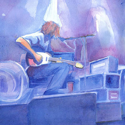 Painting - Michael Houser From Widespread Panic by David Sockrider