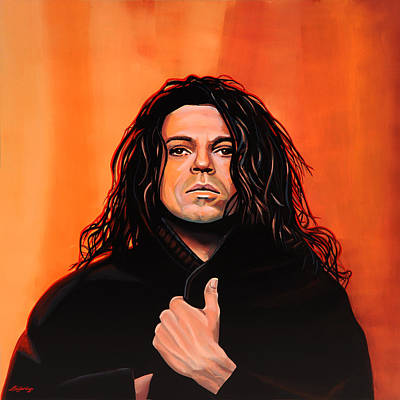 Kick Painting - Michael Hutchence Painting by Paul Meijering