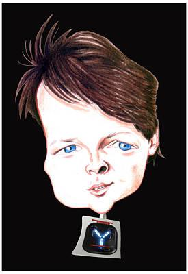 Drawing - Michael J. Fox Illustration by Diego Abelenda