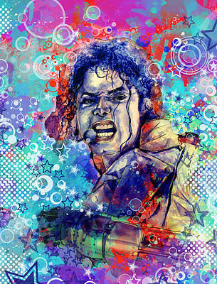 Jackson 5 Painting - Michael Jackson 11 by Bekim Art