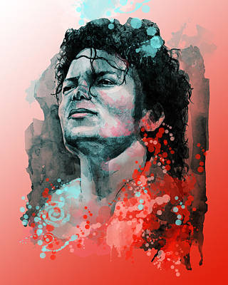 Modern Abstract Painting - Michael Jackson 13 by Bekim Art