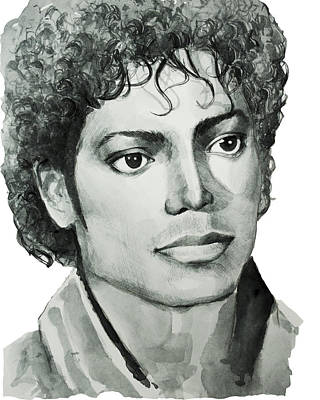 King Of Pop Drawing - Michael Jackson 7 by Bekim Art