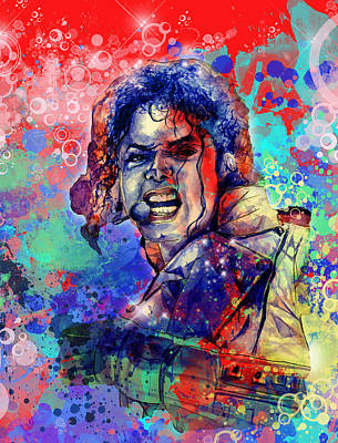 Jackson 5 Painting - Michael Jackson 8 by Bekim Art