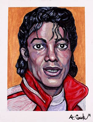 Wall Art - Painting - Michael Jackson by Adam B Cook