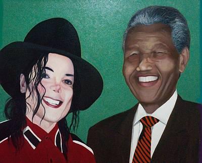Michael Jackson And Nelson Mandela Original