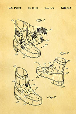 Michael Jackson Photograph - Michael Jackson Anti Gravity Boot Patent Art 1993 by Ian Monk
