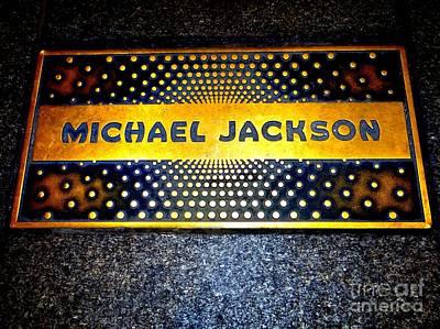 Michael Jackson Apollo Walk Of Fame Print by Ed Weidman