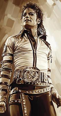 Michael Jackson Artwork 2 Art Print by Sheraz A