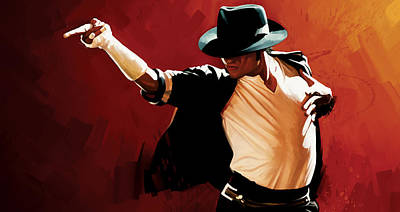 Michael Jackson Painting - Michael Jackson Artwork 4 by Sheraz A