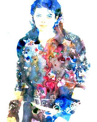 Michael Jackson Bad Art Print by Brian Reaves