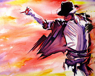 White Gloves Painting - Michael Jackson-billie Jean by Joshua Morton