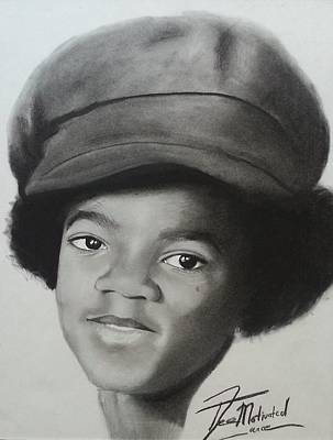 Michaeljackson Drawing - Michael Jackson Charcoal by Lance  Freeman