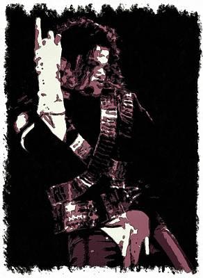 Painting - Michael Jackson Concert Poster by Florian Rodarte