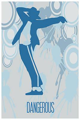 Michael Jackson Painting - Michael Jackson Dangerous Poster by Florian Rodarte