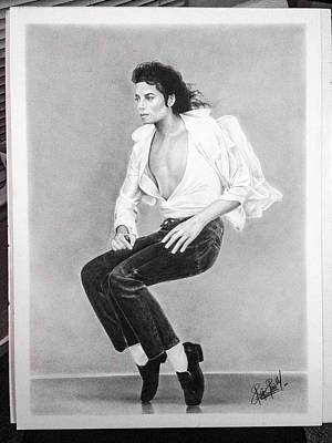 Michaeljackson Drawing - Michael Jackson by Felipe Galindo