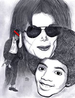 Mj Drawing - Michael Jackson by Gil Fong
