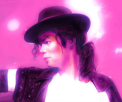 Michael Jackson Mixed Media - Michael Jackson King Of Pop by Gina Dsgn