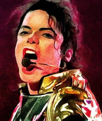 Michael Jackson Digital Art - Michael Jackson Live And Alive 2 by Yury Malkov