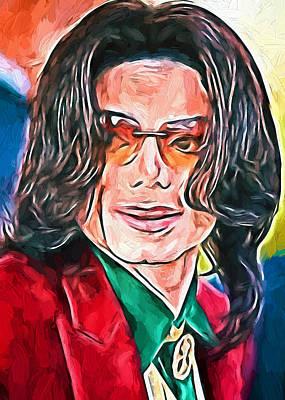 Michael Jackson Digital Art - Michael Jackson Live by Yury Malkov