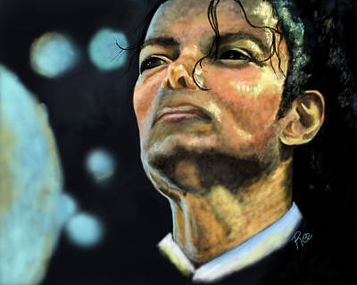 Michael Jackson Art Print by Maria Schaefers