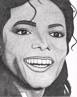 Jackson 5 Drawing - Michael Jackson by Marie Wern
