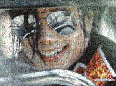 Digital Art - Michael Jackson - Mosaic by Paulette B Wright