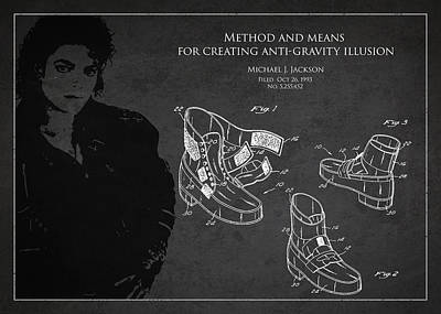 Michael Jackson Digital Art - Michael Jackson Patent by Aged Pixel