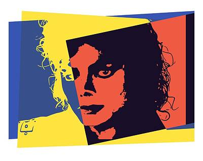 Michael Jackson Digital Art - Michael Jackson Pop Art by Dan Sproul