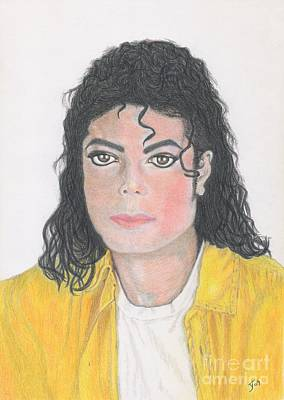 Drawing - Michael Jackson Portrait by Yvonne Johnstone