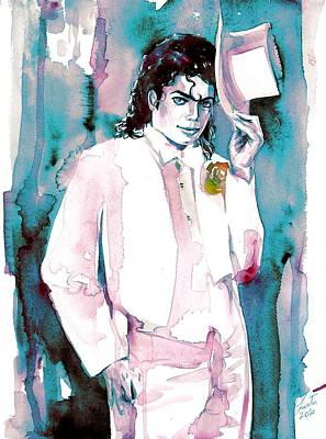 Michael Jackson Painting - Michael Jackson - Portrait.17 by Fabrizio Cassetta